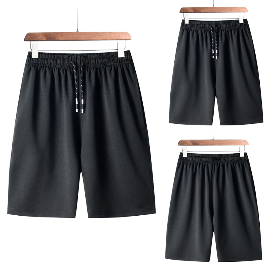 Explosion Style Large Size Sports Casual Shorts Men's Beach Pants Quick-drying Running Fitness Pants Beach Five-point Pants