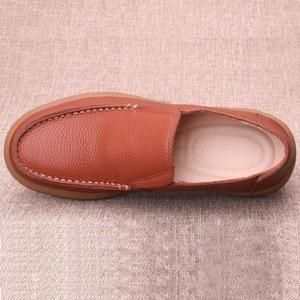 Image 4 - Chaussures en cuir naturel fait à la main pour hommes, respirantes de grande taille 11 12 13, mocassins de luxe de styliste, chaussures décontractées