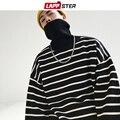 LAPPSTER Rollkragen Männer Gestreiften Pullover 2019 Winter Harajuku Japanischen Streetwear Pullover Männlichen Koreanischen Hip Hop Oversize Kleidung