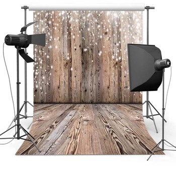 Vinyl Photography Background Brown Wooden Floor Snowy Children Backdrops for Photo Studio Christmas Backdrop Photo Background nostalgic style flax cloth photography background accessories for fruit food tabletop shooting studio photo backdrop decorations