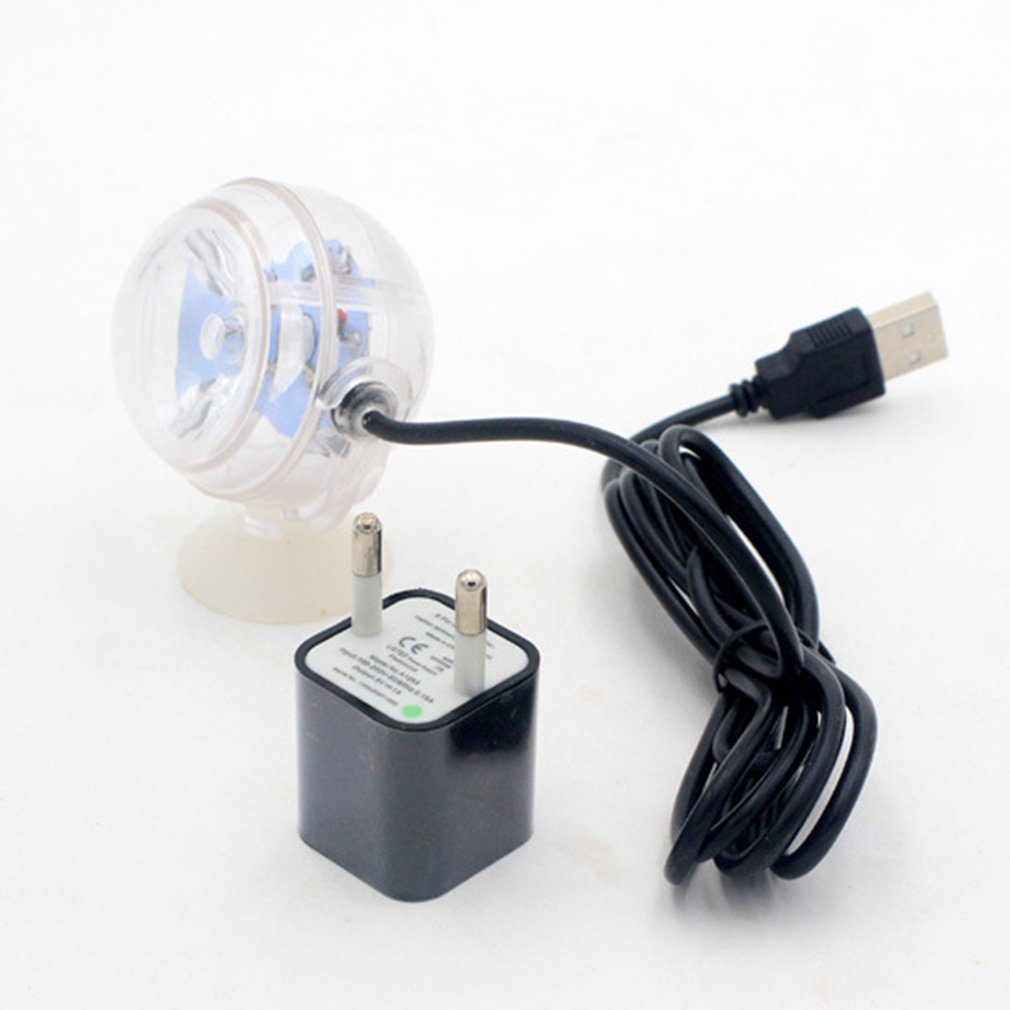 LED Spotlight Submersible Light Convex Lens Suction Cup Fish Tank Small Size Aquarium Waterproof Decorative Lamp Indoor Lighting