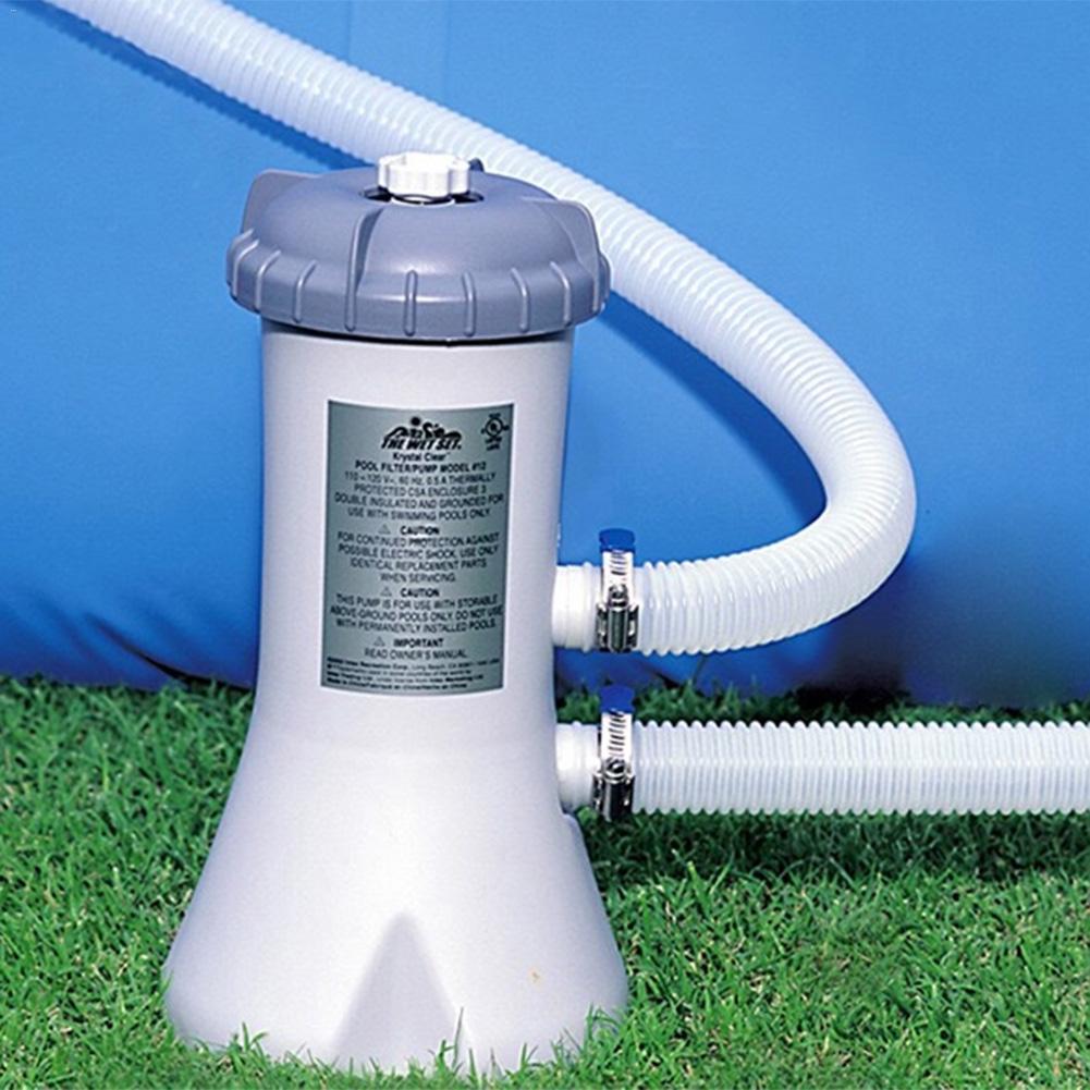 220-240V piscine filtre de circulation d'eau débit clair filtre pompe nettoyeur d'eau gonflable piscine nettoyant accessoire #