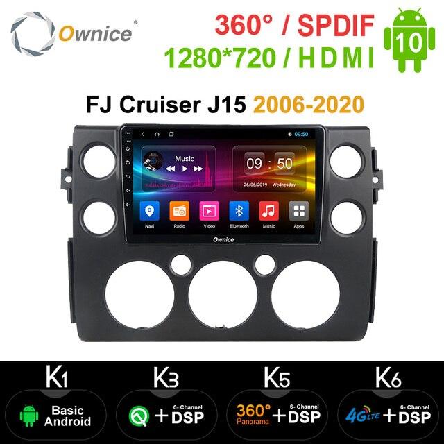 Ownice K3 K5 K6 Android 10.0 Octa Core Fit Voor Toyota Fj Cruiser J15 2006 2020 Auto Speler Navi gps Radio 360 Panorama 4G Spdif