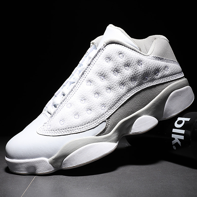 Mlcriyg AJ13 Men Basketball Shoes Luxury Air Damping White Sports Sneakers High Top Breathable Trainers Leather Outdoor Boots
