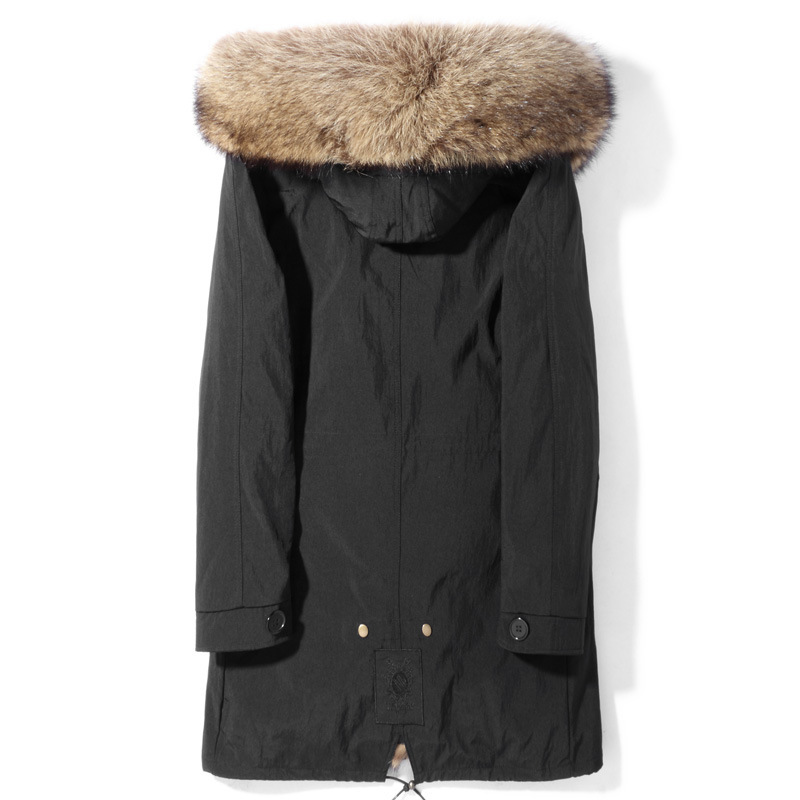 2020 New Parka Real Fur Coat Men Winter Jacket Warm Raccoon Fur Liner Long Genuine Fur Coats Parkas De Hombre P189865102