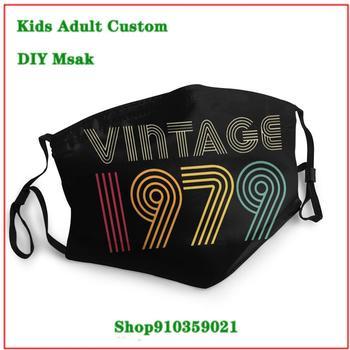 Vintage 1979 3 mascarilla reutilizable mascara protectora facial lavable kids men women children face mask washable mask pm2.5
