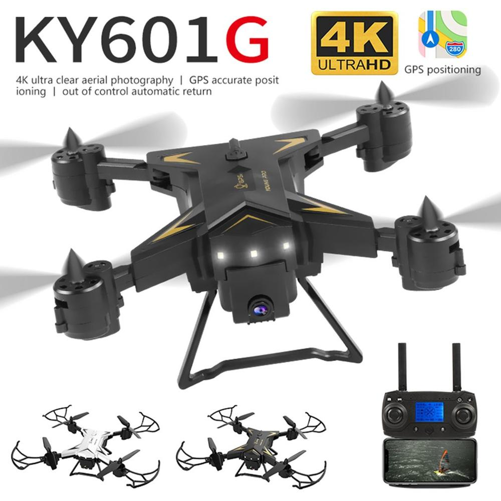 Drone GPS KY601g HD 5G WiFi Drone RC FPV 4-Axis GPS Aerial Toy Foldable Aircraft Geature Photo Video RC Airplane+1800mAh Battery