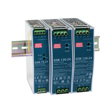 Mean Well EDR-75 120 150 series meanwell 12V 24V 48V DC 75w 120w 150w Single Output Industrial DIN RAIL Power Supply