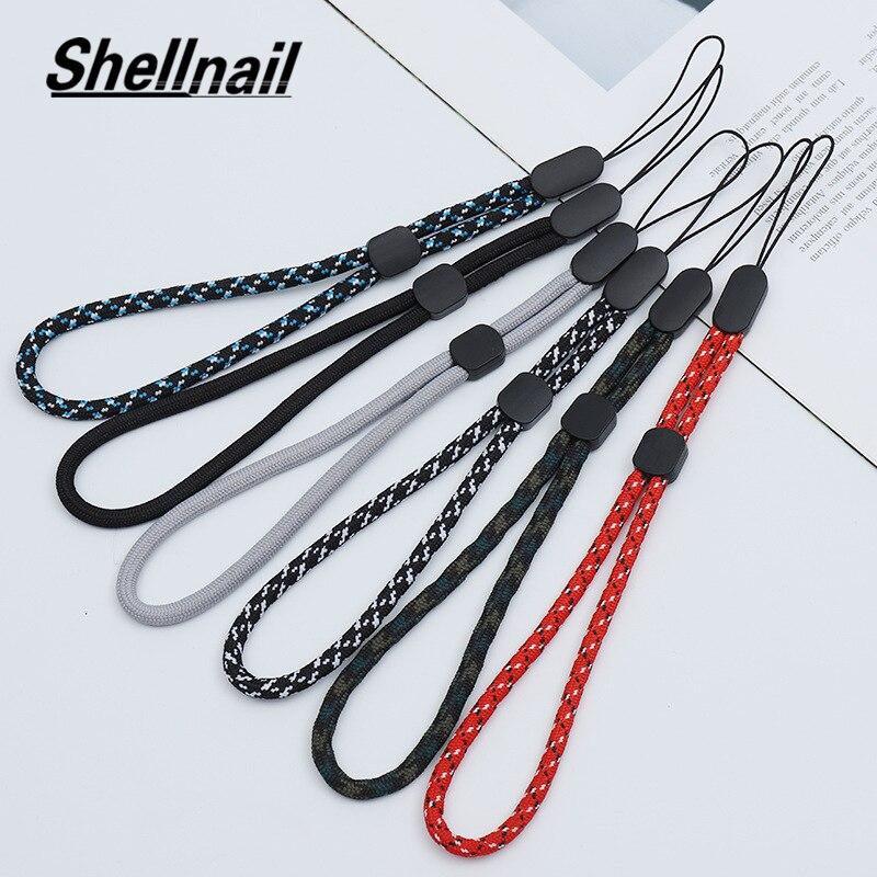 Shellnail Hot Mobile Phone Straps USB Key Short Lanyard Adjustable Walkie Talkie Hand Strap Wrist Rope Audio Anti-lost Lanyard