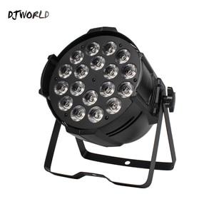 Image 2 - Djworld led 18x18 w par luz de fundição alumínio estágio par rgbwa + uv 6in1 lavar dmx 512 powercon para disco dj música festa clube dança