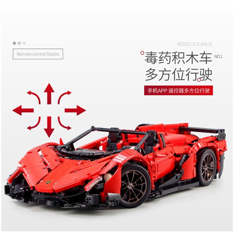 13079 poison RC Car MOC 10559 Veneno Roadster Motor Power Functions Fit App for legoing Technic Building Blocks Bricks Toys Gift 22