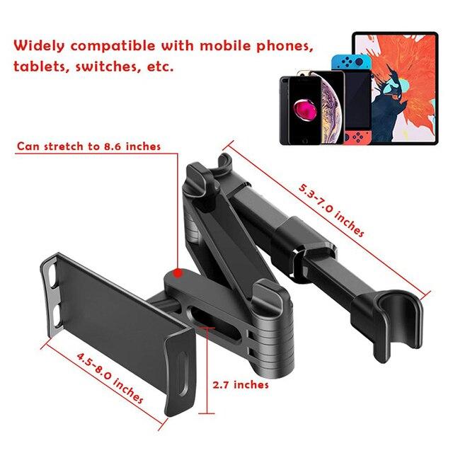Uchwyt na tablet do samochodu stojak na tylną poduszkę do samochodu Ipad 2/3/4 Air 7-11 universal 360 uchwyt obrotowy tylne siedzenie uchwyt samochodowy Handrest