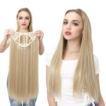 Pinza de 24 pulgadas 170g de extensión de cabello de SARLA, pieza de pelo falso largo liso Natural U, pieza de pelo sintético