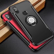 цена на Shockproof Case For Xiaomi Redmi Note 7 Case 360 Finger Ring Magnet Car Holder For Xiaomi Redmi Note 5 4x 5A Plus 4A Mi 8 9 Case