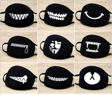 NEW Fashion Unisex Cartoon Pattern Black Cotton Face Mask Cute 3D Print Half Mouth Muffle Masks Outdoor Cycling