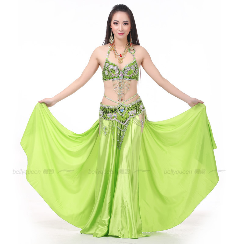2020 Women New Bellydancing Skirts Training Dress Or Performance Indian Dress Belly Dance Skirt Costume 14 Colors