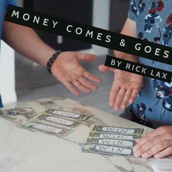 Pieniądze przychodzą i idą przez magiczne sztuczki Rick Lax tanie i dobre opinie Papier Unisex Jeden rozmiar Pływające Miga Zniknięcie Dowiedz się Łatwe do zrobienia Profesjonalne Magów Ulica Etap