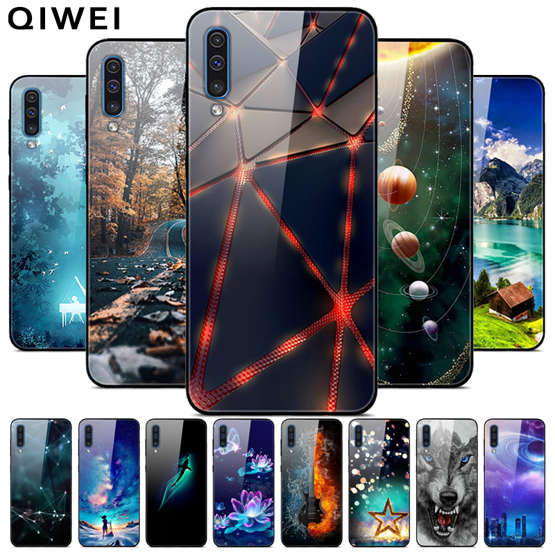 For <font><b>Samsung</b></font> <font><b>A70</b></font> <font><b>Case</b></font> <font><b>Tempered</b></font> <font><b>Glass</b></font> Hard Phone Back Cover coque For <font><b>Samsung</b></font> Galaxy A40 A10 A10S A 70 Phone bumper <font><b>cases</b></font> A 10s 10 image