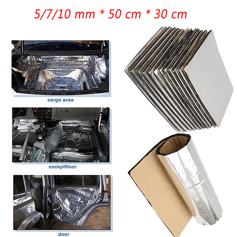 10/7/5mm 50*30*cm Car Noise Insulation Cotton Car Covers For Renault Megane 2 3 Duster VW Touran Passat B6 Golf 7 T5 T4 Fiat 500