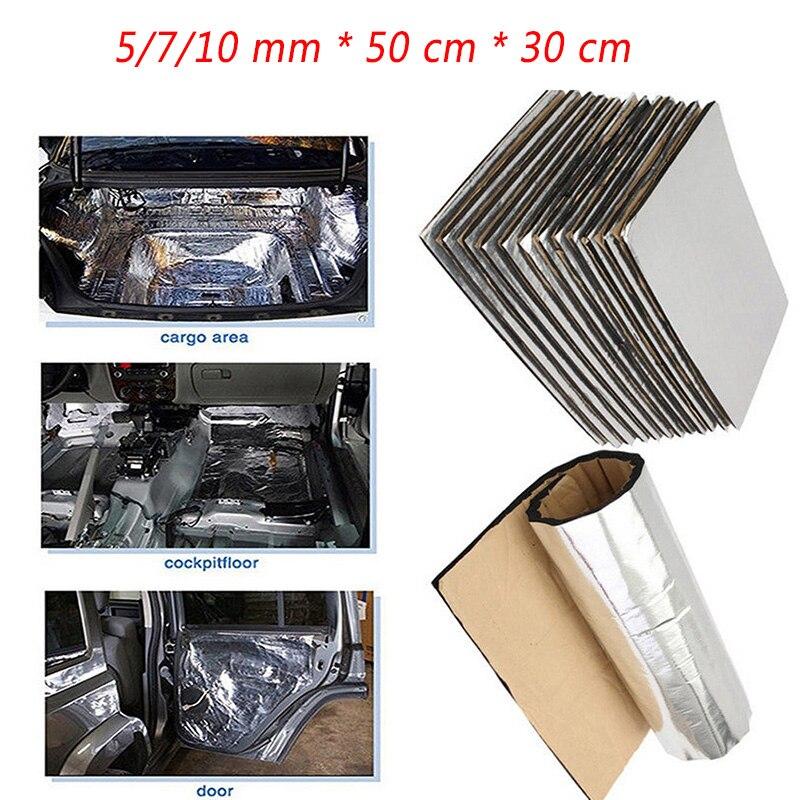10/7/5mm 50*30 * cm araba ses yalıtımı pamuklu araba kapakları Renault Megane 2 için 3 silgi VW Touran Passat B6 Golf 7 T5 T4 Fiat 500