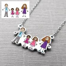 Children Drawing Necklace,Kid's Artwork Necklaces,Personalized Drawing Necklace,Gift for Mom,Christmas Gift(China)