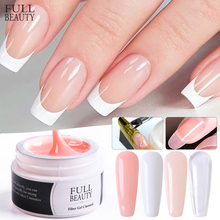 Building-Gel Pink Finger-Nail-Extension Manicure Acrylic Varnish Nail-Art White 15ml