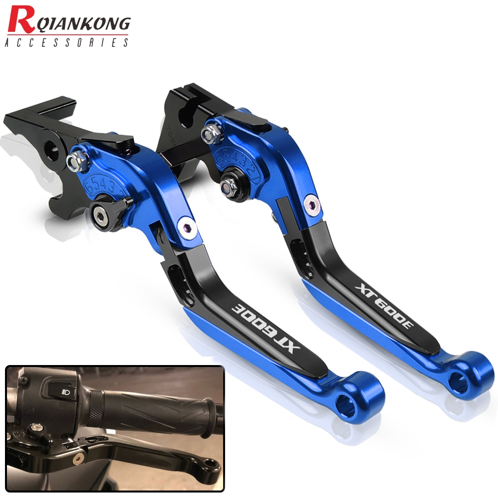Motorcycle Clutch Brake Levers For <font><b>YAMAHA</b></font> XT 600 E 600E <font><b>XT600</b></font> E XT600E 1990-2003 CNC Aluminum Adjustable Extendable Levers <font><b>Parts</b></font> image