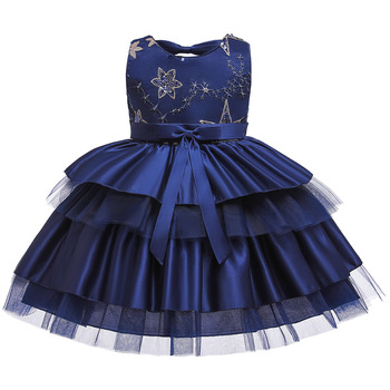 Vestidos 2020  Ball Gown Flower Girl Dresses Cap Sleeves Short Birthday Party Dresses With Bow Robe Mariage Femme baby blue knee length open back long sleeves organza flower girl dresses with bow baby birthday party gown with pearls crystals