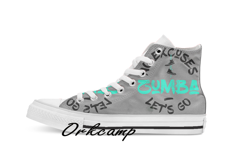Zumba No Excuses Let s Go Custom Casual High Top lace-up Canvas shoes sneakers Drop shipping image