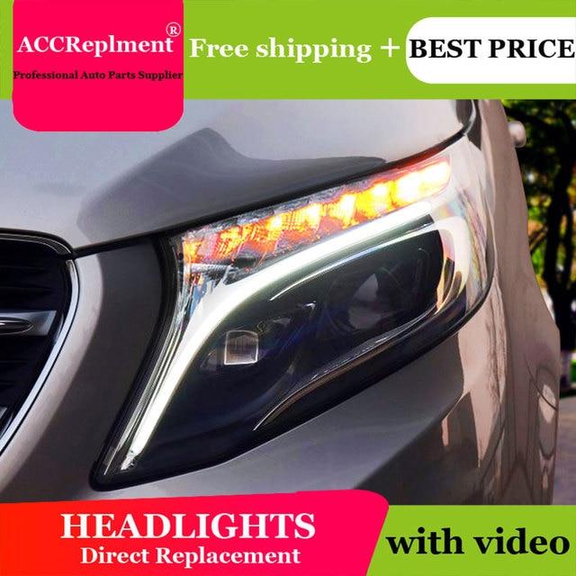 לנץ Metris 2016 2019 פנסים כל LED פנס DRL דינמי אות Hid ראש מנורת Bi קסנון קרן אבזרים רכב סטיילינג