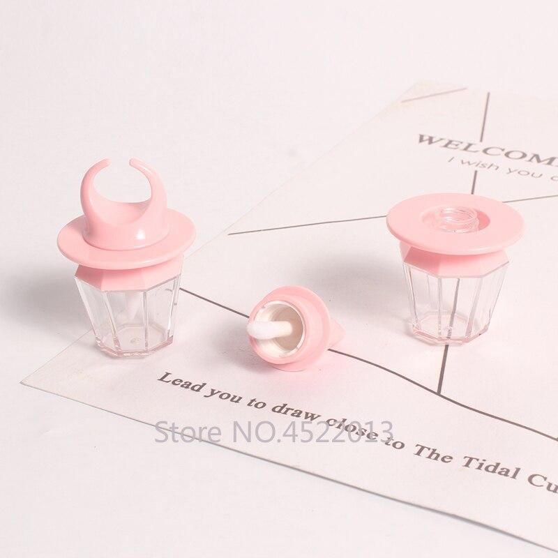8ml 50/80 pièces vide rose huit côtés brillant à lèvres Tube, bricolage Portable diamant anneau bouteille, clair cosmétique beauté maquillage conteneur coquille