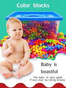 Blocks Color-Snowflakes Plastic Education-Toys Children's Inserted Desktop-Puzzle Hexagonal