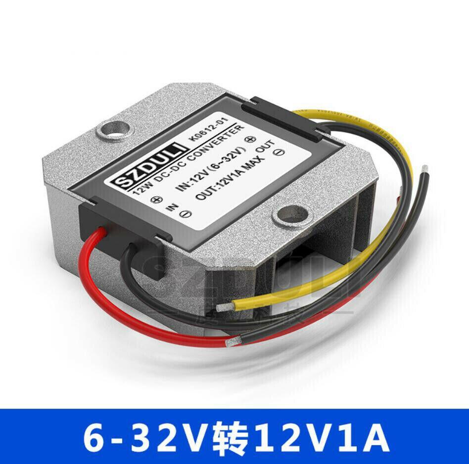 Locutor de Rádio de carro (5-32 V) para 12V 1A DC Impulsione Converter Power Module Voltage Regulator Estabilizador de Alumínio de Aviação