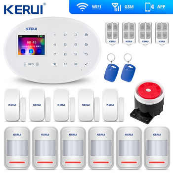 Kerui W20 Wifi Gsm Home Alarm Wireless Burglar Security Alarm Intelligent House ISO Android App Control - DISCOUNT ITEM  16% OFF All Category