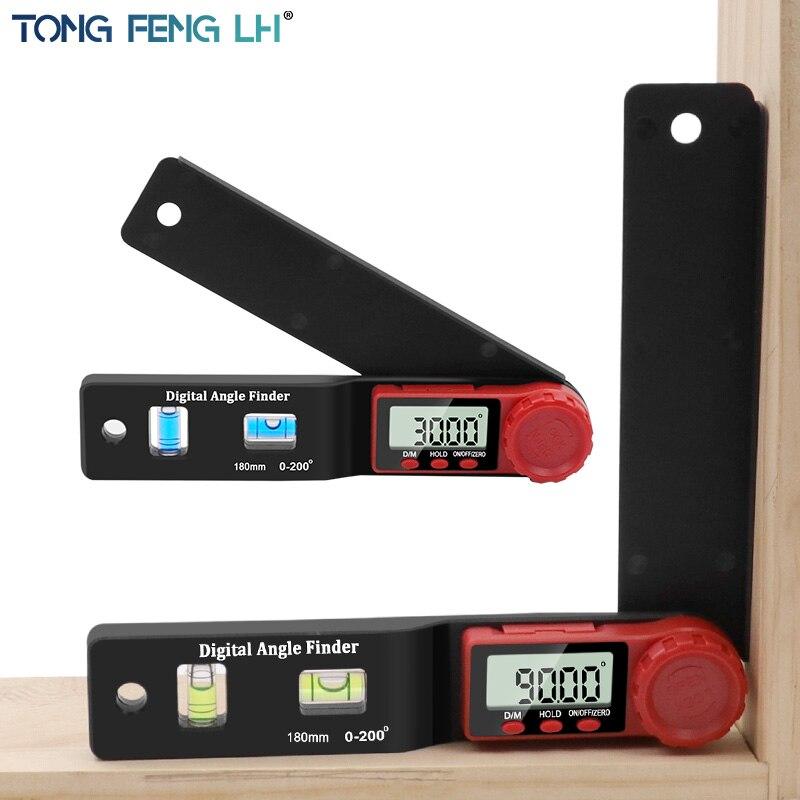 דיגיטלי מד זוית זווית Finder Inclinometer אלקטרוני רמת 360 תואר עם ללא מגנטים רמת זווית מדרון מבחן שליט