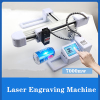7000mW Laser Mini Máquina de Gravura Em Metal Mini Máquina de Gravura Mini Máquina de Gravura Em Madeira de Corte Diy