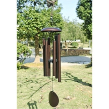 90cm Fine Quality Metal Aluminum 6 Tubes Wind Chimes Garden Yard Hanging Decoration Outdoor vintage Tubes Wind-bell Ornaments