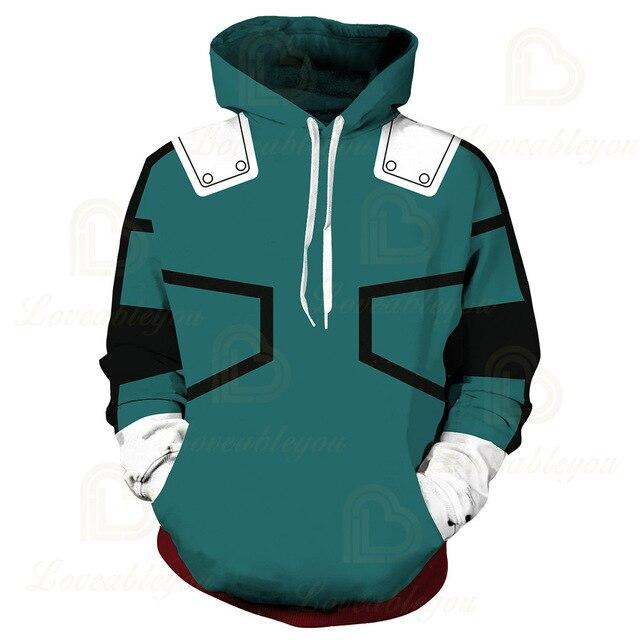 Anime Hoodies Sweatshirts Boku No My Hero Academia Cosplay Costumes Bakugou Todoroki Shoto Spring/Autumn Coat 6