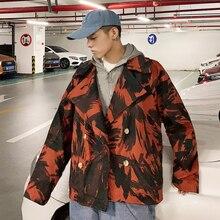Autumn New Camo Jacket Men Fashion Printing Casual Military Wind Coat Street Wild Hip Hop Loose Bomber Man