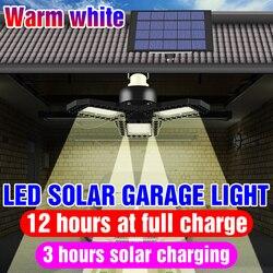 Wasserdichte Solar Power LED Licht Tragbare LED Garage Licht Solar LED Lampe Outdoor Camping Lampe 60W 80W Garten notfall Beleuchtung