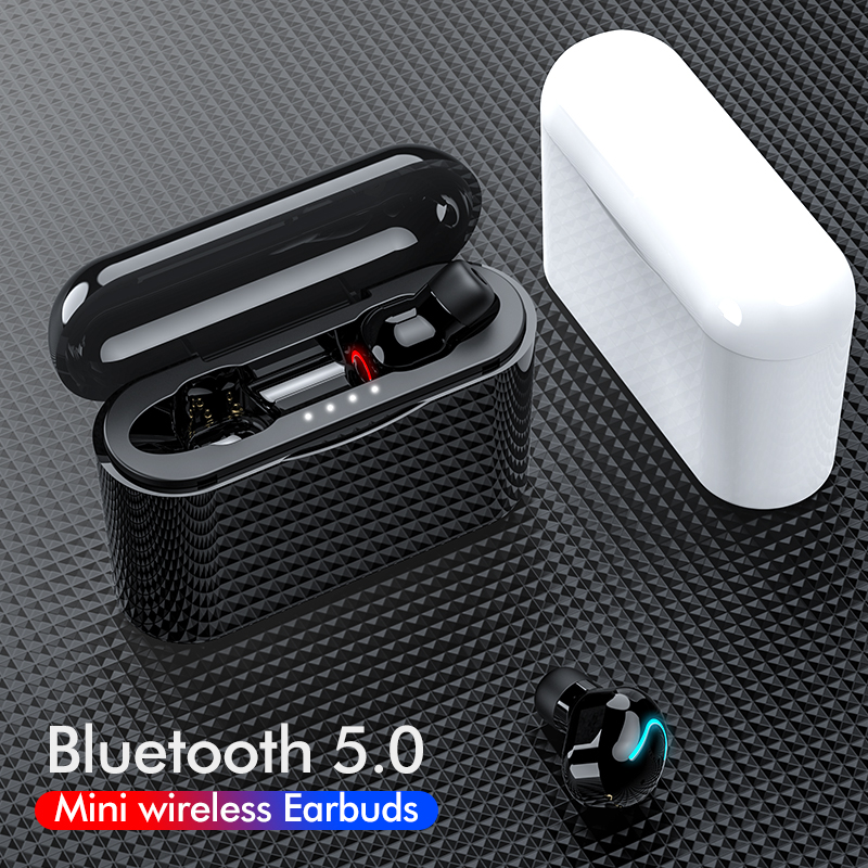 TWS Bluetooth Earphone V5.0 Wireless Headphones Sports Waterproof Stereo Wireless Earbuds With Mic Handsfree Bluetooth Headset