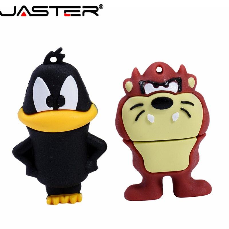 JASTER USB 2.0 Cute Animal Chick Usb Flash Drive 32GB Pendrive 64GB 16GB 8GB 4GB Cat Rabbit Duck Pen Drive U Disk