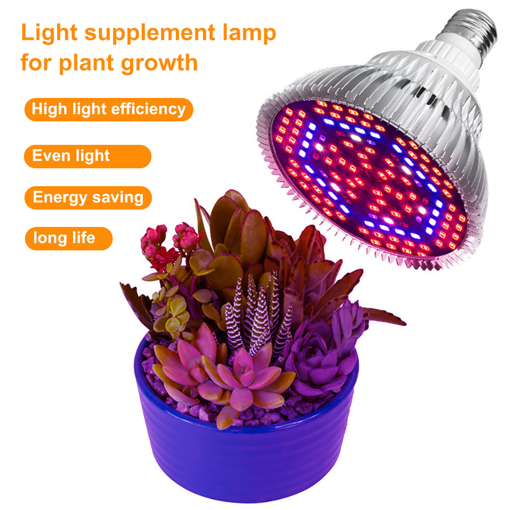 LED Grow Light Full Spectrum 28W 30W 50W 80W E27 UV IR LED Growing Bulb For Indoor Hydroponics Flowers Plants LED Growth Lamp