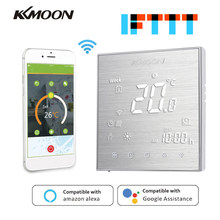 KKmoon Thermostats Digital Water/Gas Boiler Heating Thermostat WiFi Voice Control Touch screen Home Room Temperature Controller(China)