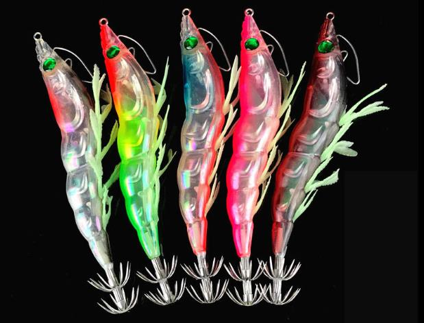 2019 High Quality Fishing Squid Lures 105mm 19g Sinking Hard Baits soft leg Squid Shrimp Jig Lure Wobblers Fishing Tackle