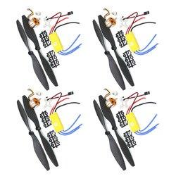 Заводской Комплект outlet4/лот A2212 1000KV бесщеточный мотор outtrunner + 30A ESC + 1045 комплект пропеллеров Quad-Rotor для радиоуправляемых летательных аппарато...