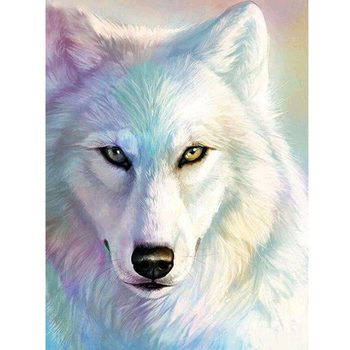 Full Square Diamond Embroidery Wolf Mosaic Picture of Rhinestones Sale 5D DIY Diamond Painting Animal Cross Stitch Home Decor 3d diy diamond painting horse picture mosaic 5d cross stitch full square diamond embroidery kits animal painting home decor