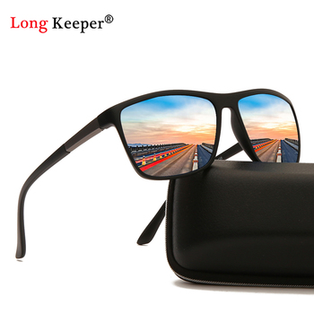 цена на Matte Black Frame Polarized Sunglasses Men Square Reflective Driving Sun Glasses Male Women Mirror Glasses UV400 Eyewear Shades