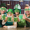 Saint Patrick's Day Props Green Clover Glasses Accessories Ireland Festival Dress Up Photobooth for St. Patrick Party Decoration 3