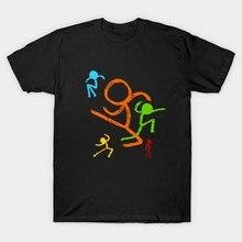 Cinq figurines de bâton T-Shirt Alan Becker T-Shirt alan becker animateur vs animation